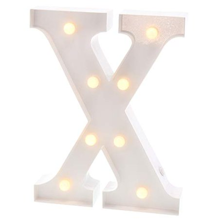 Barnyard Designs Metal Marquee Letter X Light Up Wall Initial Wedding, Bar, Home and Nursery Letter Decoration 12