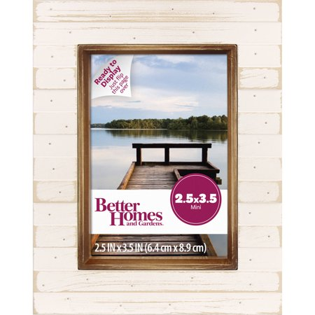 Better Homes And Gardens 25x35 Mini Plank Frame Cream Walmartcom