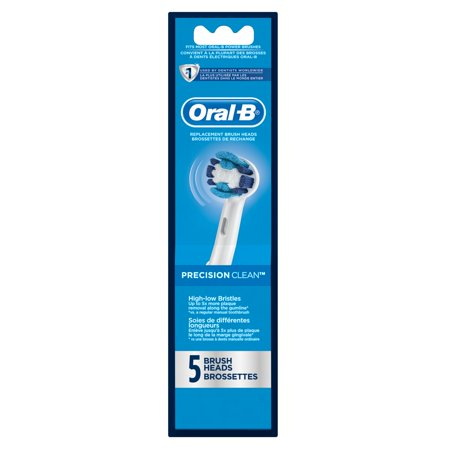 Oral B Professional Braun Precision Clean Powered Toothbrush Replacement Brush Heads, 5