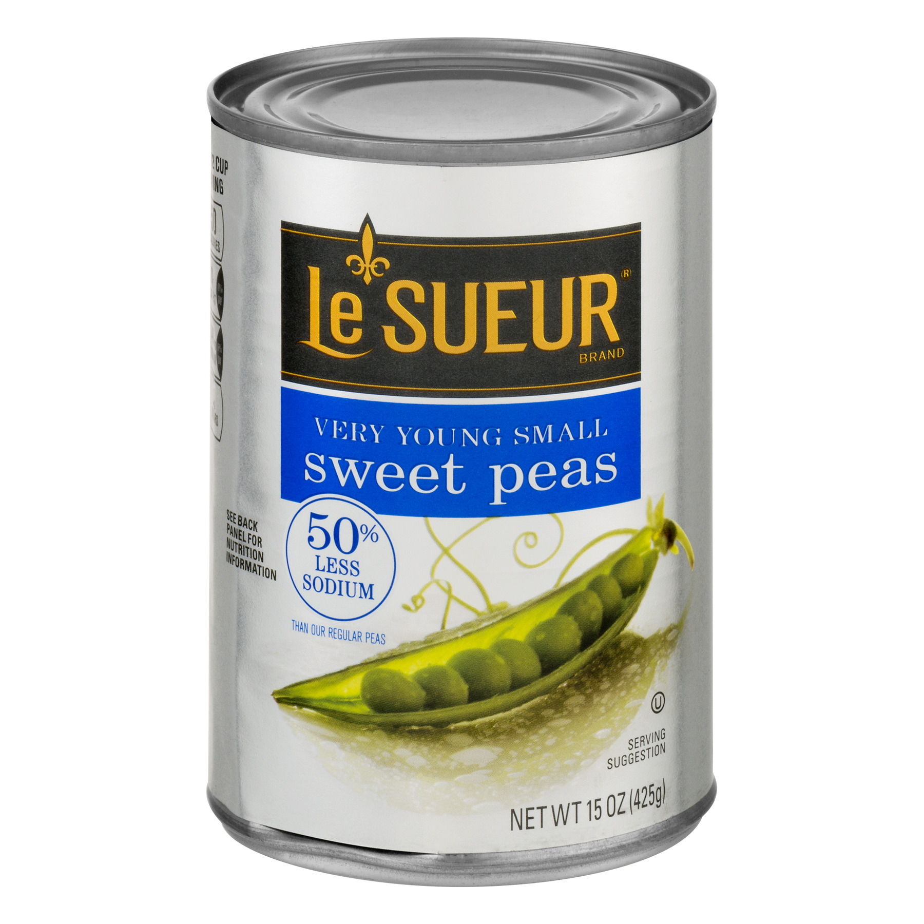 Le Sueur Sweet Peas, 50% Less Sodium, 15 Oz