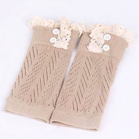 Fancyleo Toddler Kids Baby Girl Crochet Knitted Lace Boots Cuffs Toppers Leg WArmser Socks Lace Boot Topper