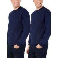 Deals on 2 Pack Fruit of the Loom Mens Eversoft Crewneck Sweatshirt