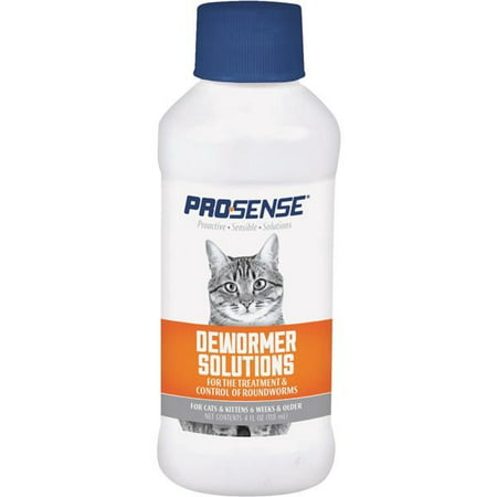 Pro-Sense Liquid Dewormer Solutions for Cats, 4-Ounce