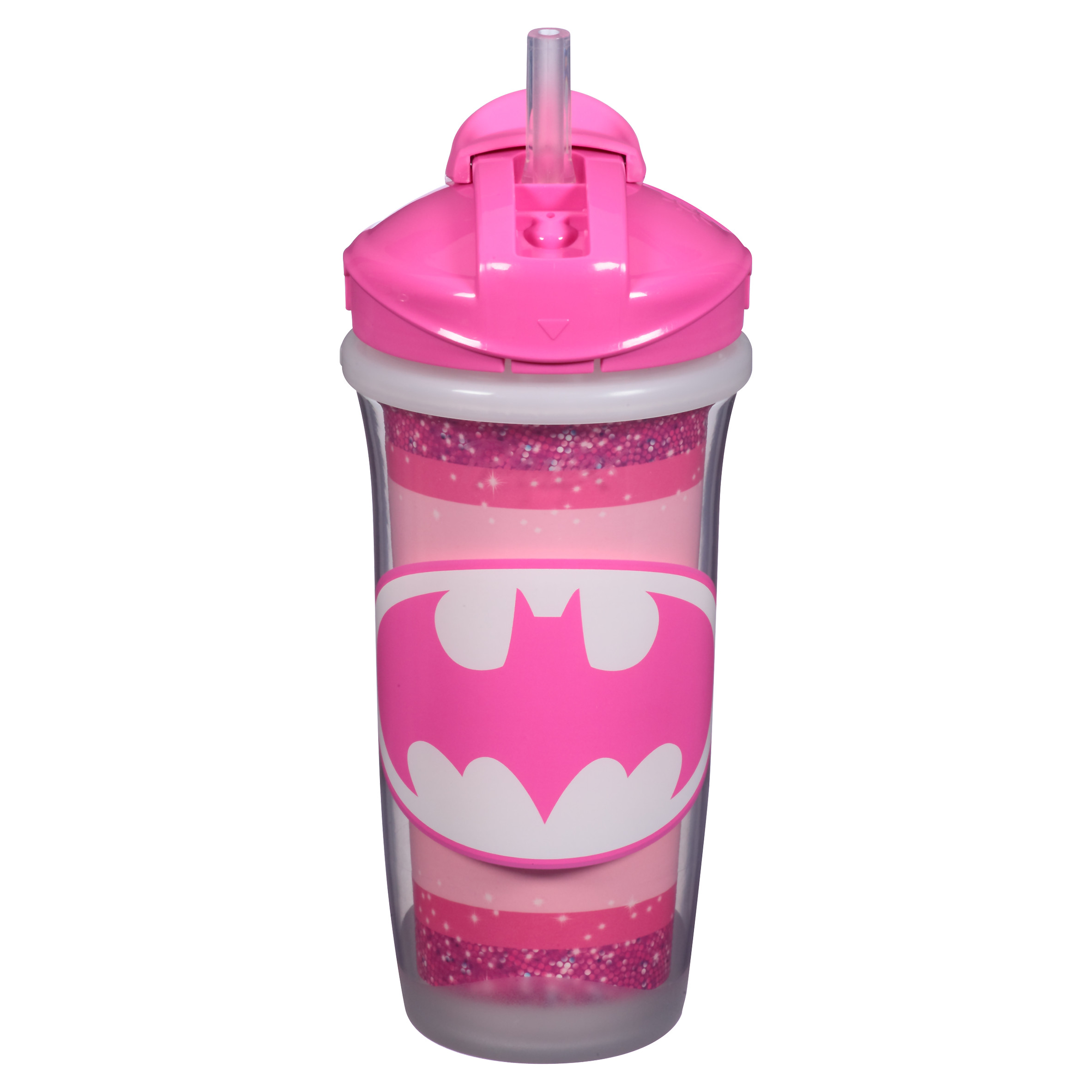 Playtex Sipsters DC Super Friends Stage 3 Insulated Straw Sippy Cup 9oz 1-Pack - ASSORTED PATTERNS