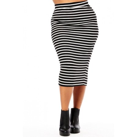 Womens Ladies Plus Sizes Curvy Western European Pencil Skirts
