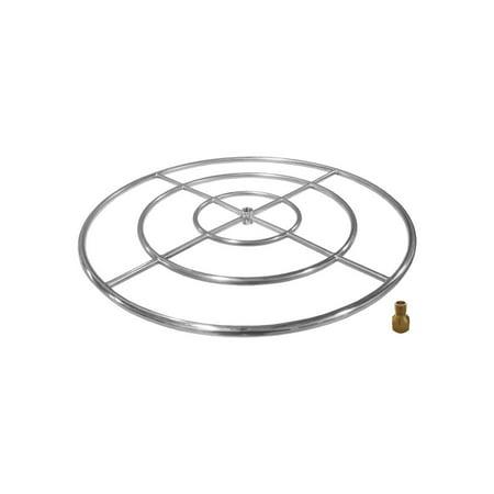 Firegear Stainless Steel Gas Fire Pit Burner Ring, 24