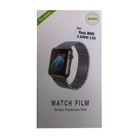 Watch Protective Film Sensitive Touching Waterproof Comfortable Watch Tempered Film Protector for Apple iWatch 38MM - image 5 de 7