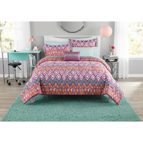 Mainstays Pink Tribal Bed in a Bag Bedding