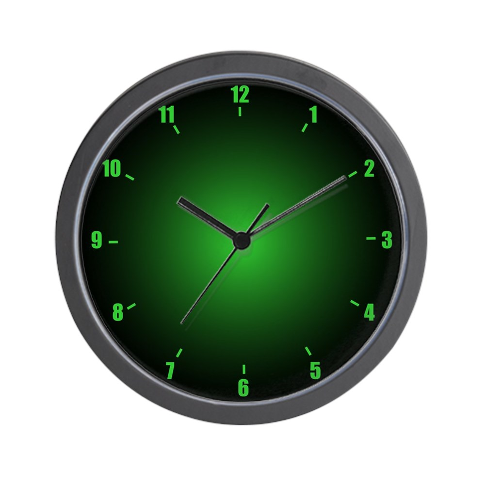 "CafePress - Neon Green - Unique Decorative 10"" Wall Clock"