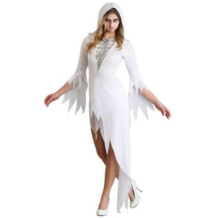Womens Ghost Babe Costume (Halloween Gry)