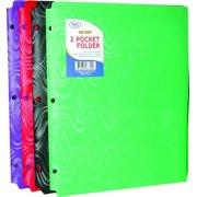 "Ddi Two Pocket Plastic Folders - ""snap In"" - 9.5""x11.5"" (pack Of 48)"