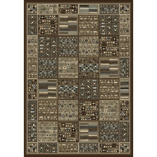 Image of Wildon Home Sonoma Chocolate/Ivory/Gray Area Rug