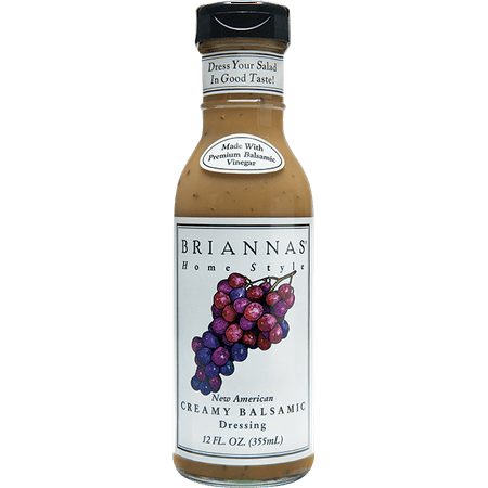 Brianna's New American Creamy Balsamic Vinaigrette Dressing, 12 oz Roasted Vinaigrette Salad