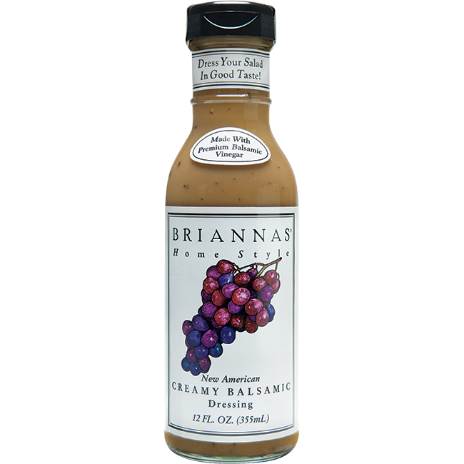 (2 Pack) Brianna's New American Creamy Balsamic Vinaigrette Dressing, 12 oz