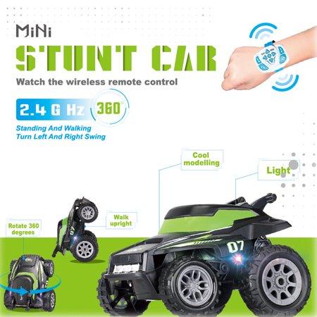 Self Programming-RC 360° Flips Stunt Car 2.4G HZ With Smart Watch Control ()