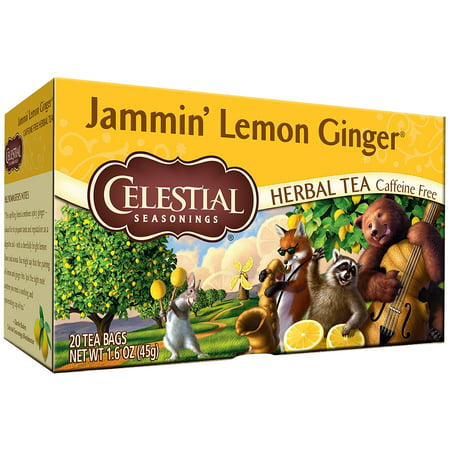 Celestial Seasonings ® Jammin' Lemon Ginger ® Herbal Tea Bags 20 ct Box