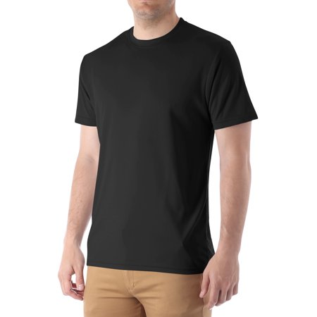 Mens Short Sleeve Tee Performance Moisture Wicking Athletic Crewneck