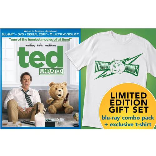 Ted (Blu-ray + DVD + Digital Copy + Limited Edition T-Shirt) (With INSTAWATCH)