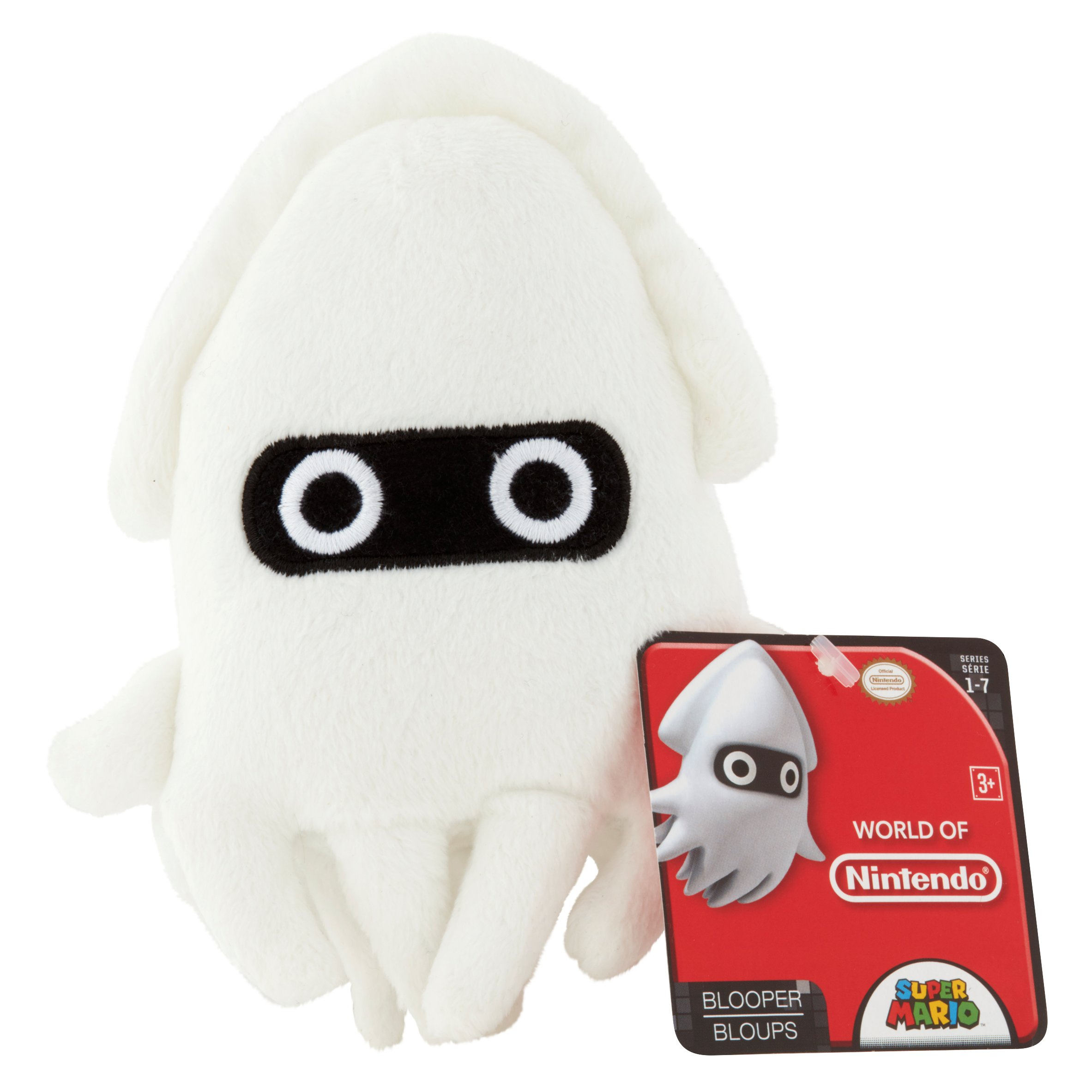 Nintendo Super Mario Blooper Plush 3+