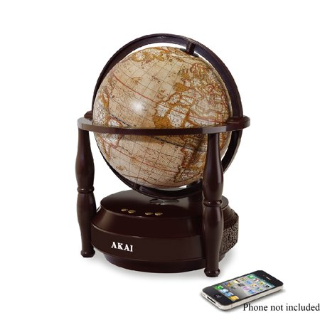 Image of Akai Bluetooth Speaker with Rotating Globe