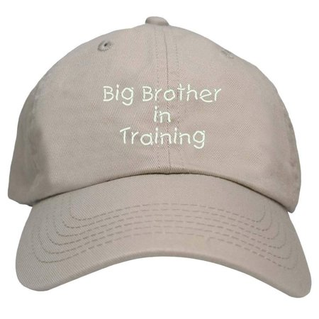 Trendy Apparel Shop Big Brother In Training Embroidered Youth Size Cotton Baseball Cap