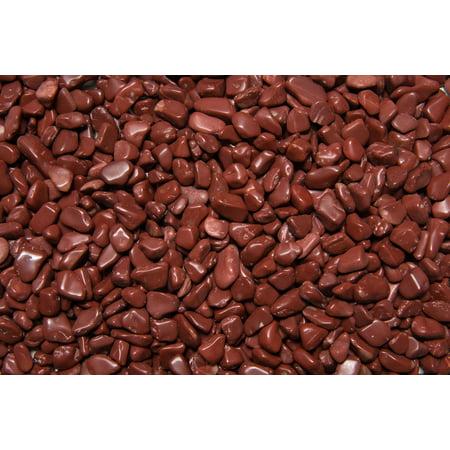 Fantasia Crystal Vault: 1/2 lb High Grade Red Jasper Tumbled Stones - XXSmall - 0.25