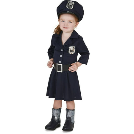police officer girl toddler halloween costume size 3t 4t