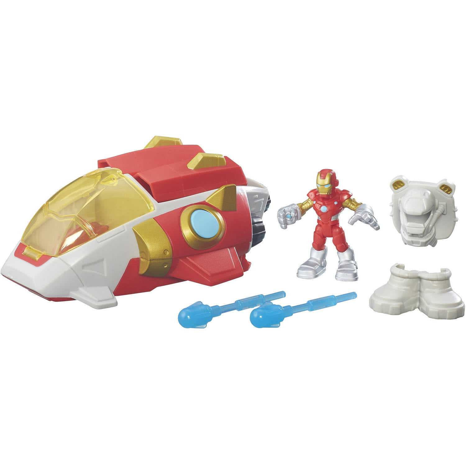 Playskool Heroes Marvel Super Hero Adventures Iron Man Starship by Hasbro