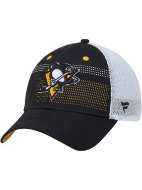8f792995fc9 Product Image Pittsburgh Penguins Fanatics Branded Iconic Grid Trucker  Adjustable Hat - Black White - OSFA