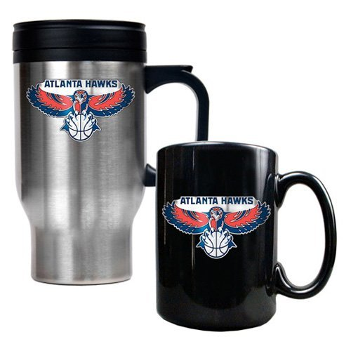 Great American NBA Travel Mug and Black Ceramic Mug Set