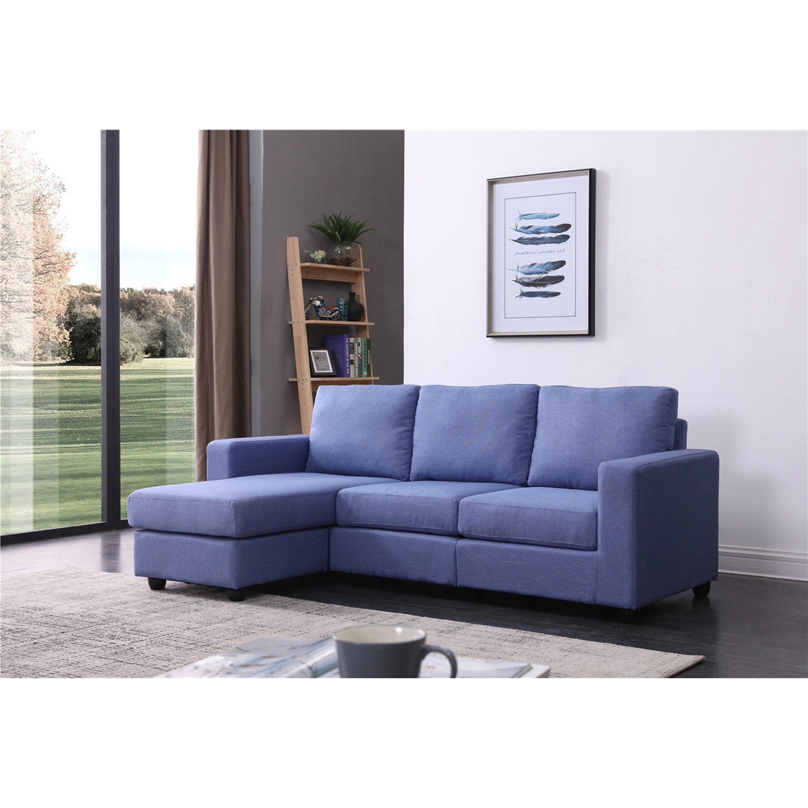 NH Designs Convertible Sectional