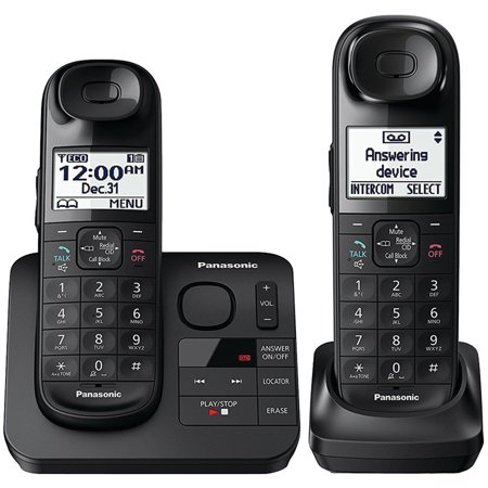 Panasonic Expandable Cordless 2 Phone Answering System w/ Comfort Shoulder Grip