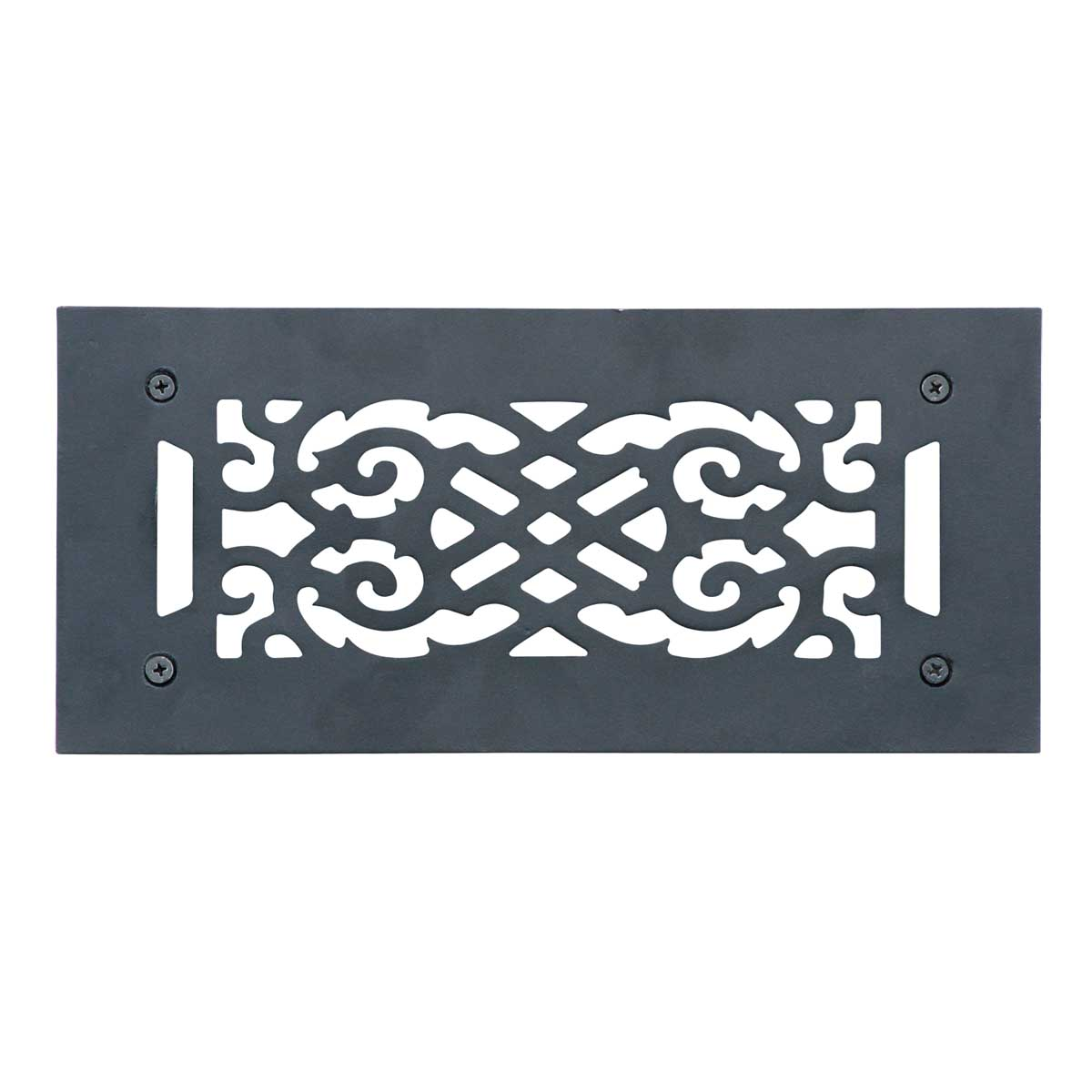Heat Air Grille Cast Victorian Overall 5 1/2 x 12 | Renovator's Supply