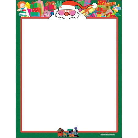 Santa Theme Letterhead - 60 Sheets Per Pack - Fun Christmas Stationery ()