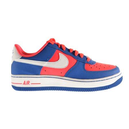 Nike Air Force 1  Gs  Big Kids Shoes Laser Crimson Military Blue 596728 606  4 W Us