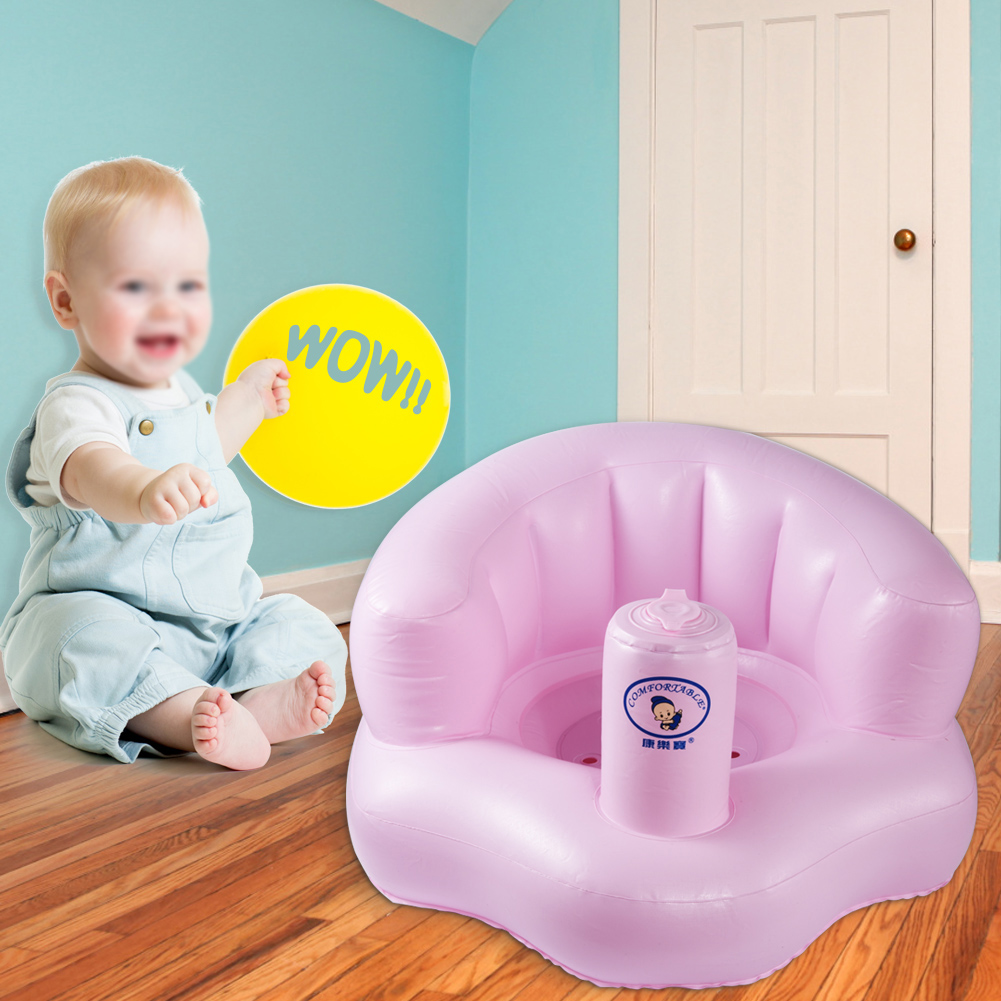 TMISHION Baby Infant Inflatable PVC Sofa Learn Stool Training Seat Portable Kids Bath Dining Chair, Bath Sofa, Baby Sofa