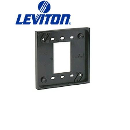 Leviton 3254-OR 4-In-1 Quad Receptacle Adapter Plate - Orange
