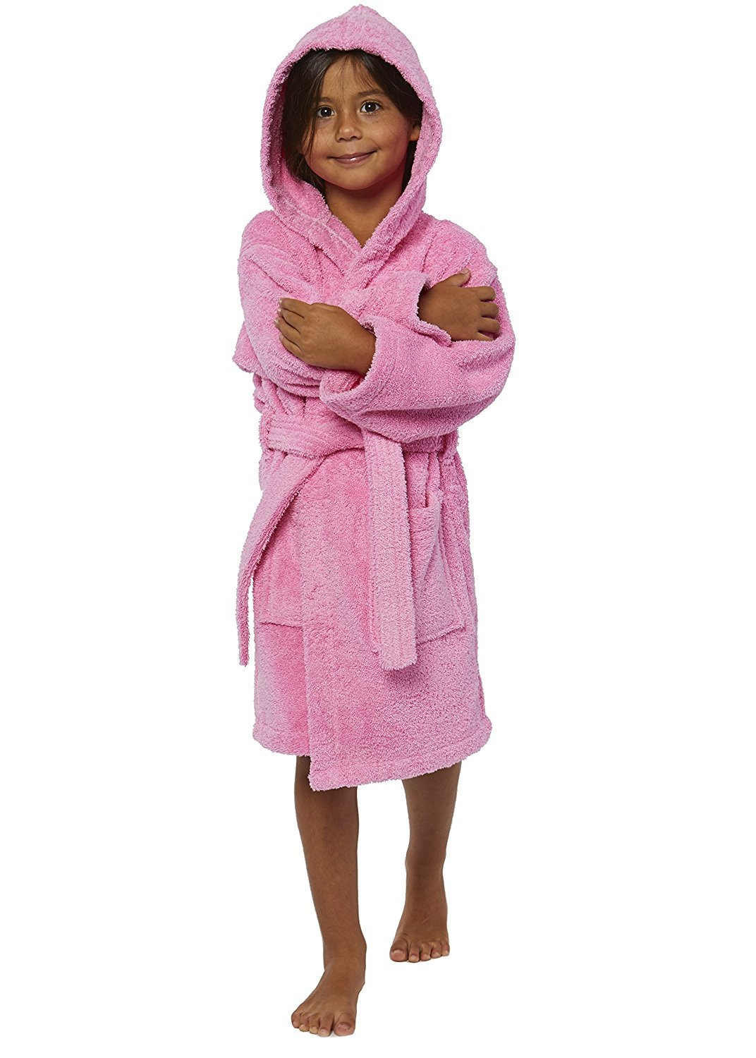 TurkishTowels Parador Hooded Terry Kids Bath Robe, 100% Cotton, Made In Turkey