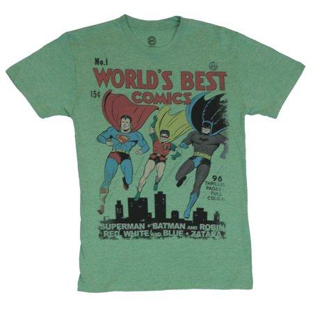 Dc Comics The Worlds Best Comics Mens T-Shirt  - Classic Worlds Fair Cover