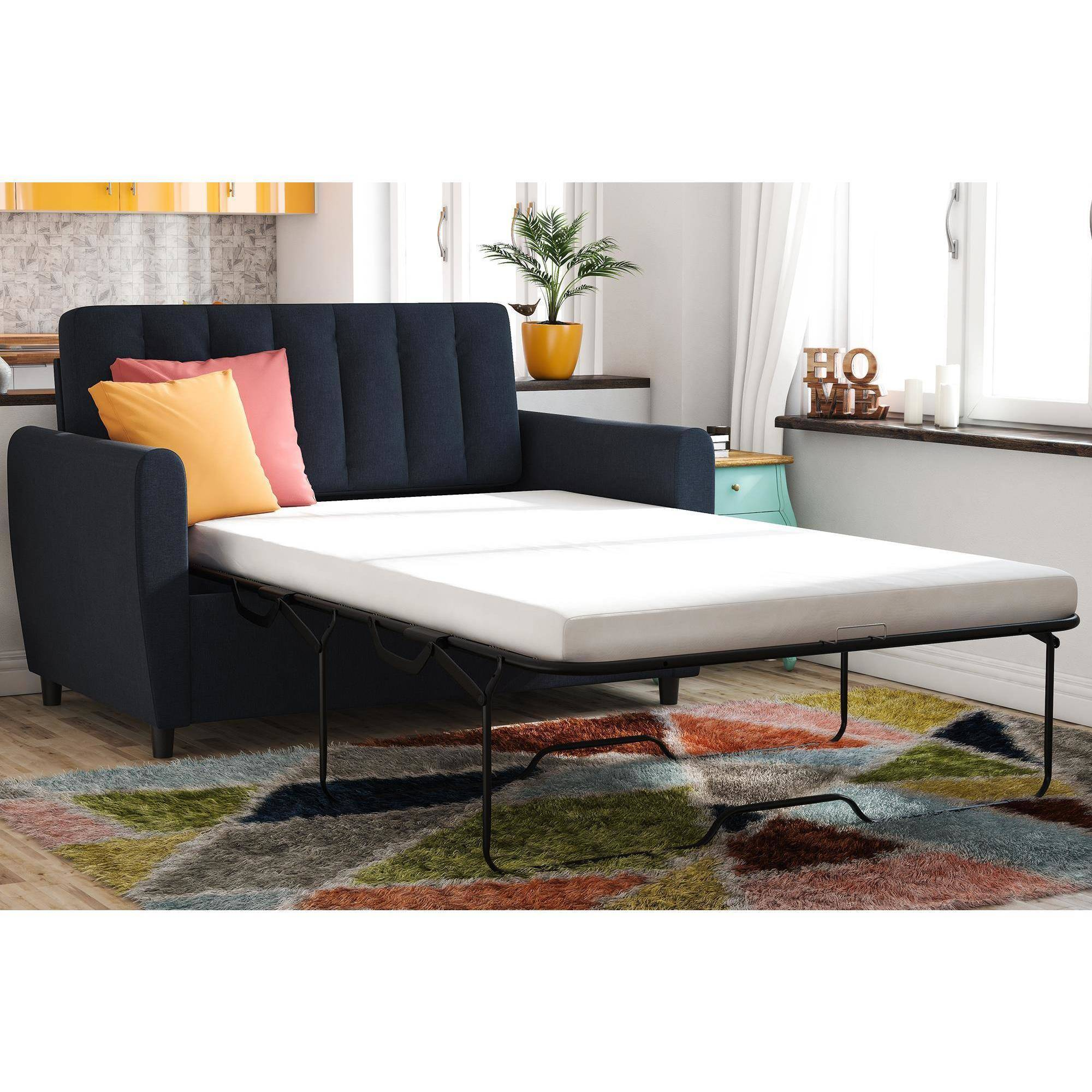 Attractive Novogratz Brittany Sleeper Sofa With CertiPUR US Certified Memory Foam  Mattress, Multiple Colors Image