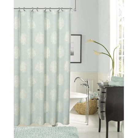 Dainty Home Rose Fabric Shower Curtain