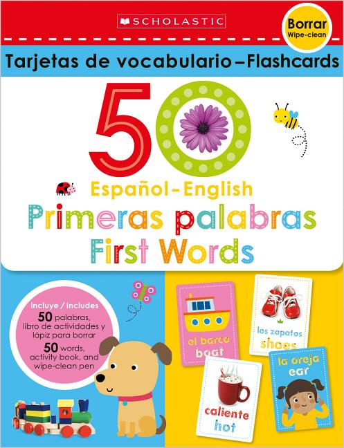 First 50 Words Scholastic Early Learners Write and Wipe Flashcards