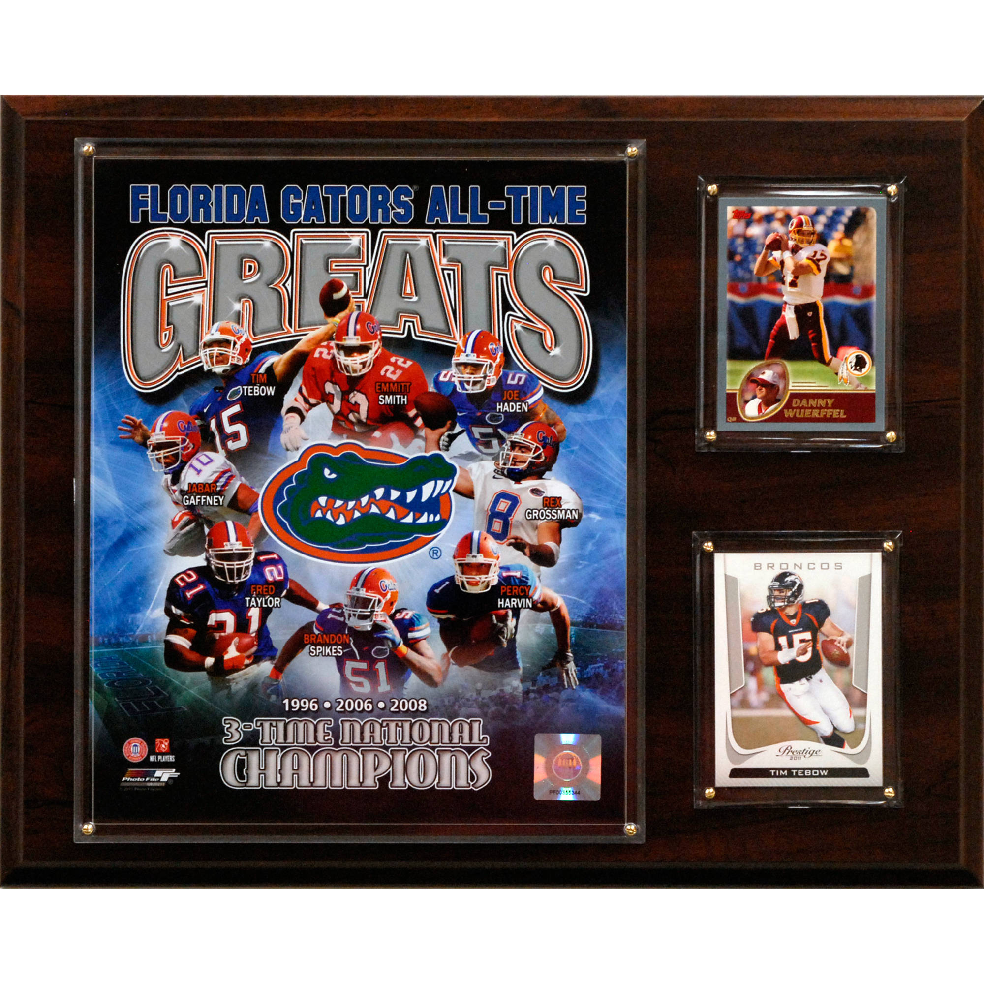 C&I Collectables NCAA Football 12x15 Florida Gators All-Time Greats Photo Plaque
