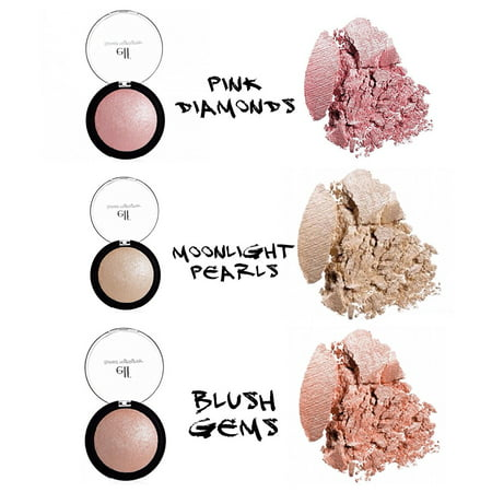 3 Pack Blush Highlighters, Create a radiant glow with this illuminating powder that highlights the skin with a sheer wash of shimmering color Infused.., By Elf From USA