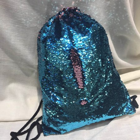 - Unisex Fashion Double Color Sequins Drawstring Bag Chest Bag Backpack SB