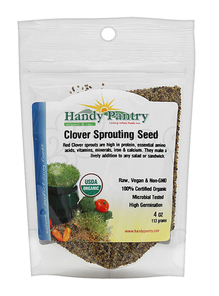 Handy Pantry Clover Sprouting Seeds 4oz by Handy Pantry