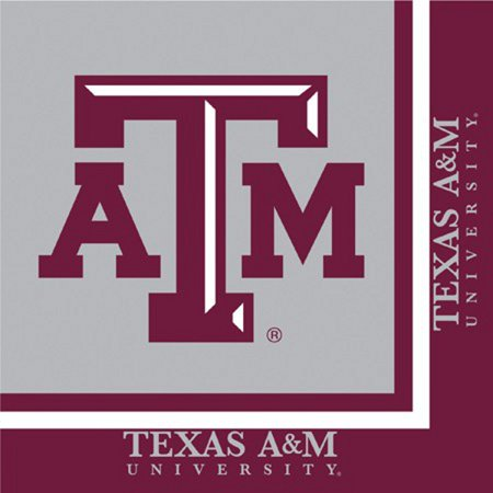 Club Pack of 240 NCAA Texas A&M Aggies 2-Ply Tailgating Party Lunch Napkins (Aggies Ncaa Pack)