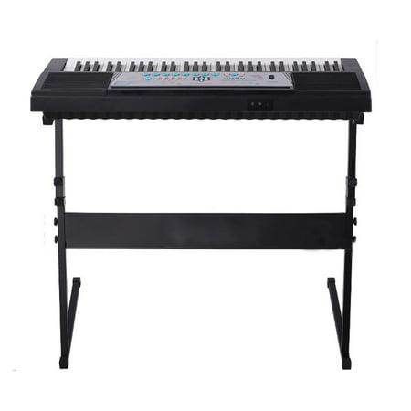 zimtown electric keyboard electronic piano z shape types rack stand adjustable framinstrument. Black Bedroom Furniture Sets. Home Design Ideas
