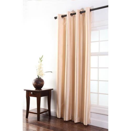 Tribeca Faux Silk Grommet Single Curtain Panel