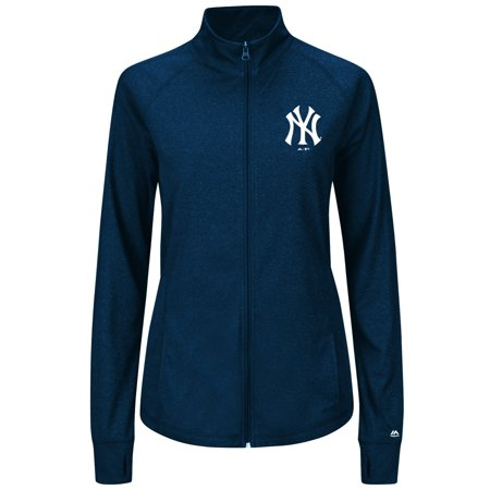 New York Yankees Womens Majestic Sweetheart Full Zip Fashion Top Shirt by